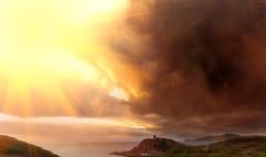 Fire Waterfall (Mauro Nuvoli) Tags: torredelporticciolo alghero sardegna italy seascape sky skyline
