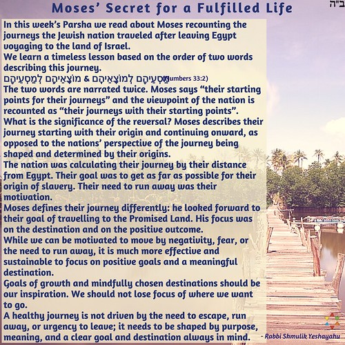 Moses' Secret for a Fulfilled Life