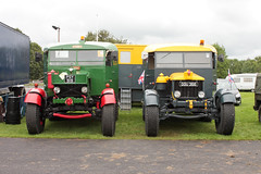 A pair of Scammell Pioneers 1946 PSY919 and 1941 GGU366 Ardingly July 2012 (davidseall) Tags: pair two scammell scammel pioneer pioneers 1946 psy919 psy 919 1941 ggu366 ggu 366 truck lorry tractor unit heavy commercial vehicle gardner engine powered ardingly west sussex 2012 old british