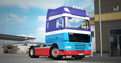 New Project - something different WiP [ETS2] (gripshotz) Tags: daf xf 105 scandifresh skin euro truck simulator ets 2