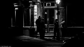 Street corner astronauts.