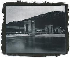Schleusenanlage Heidelberg (bachirdebs) Tags: heidelberg river finol moersch 8x10 large format kallitype analogue gold acetate fomapan