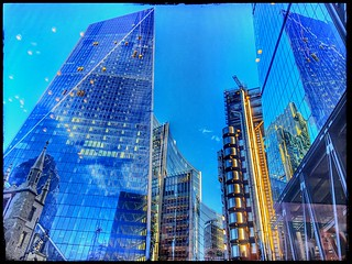 ...on the road...Glass steel & reflections...my London Town