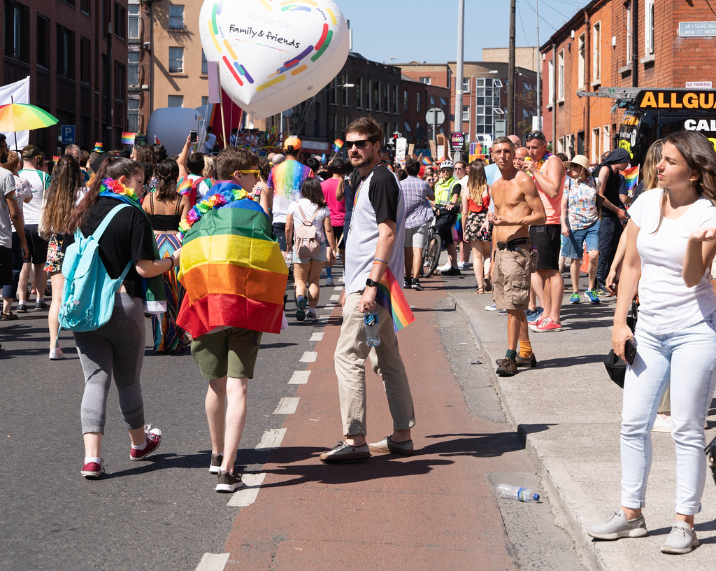 ABOUT SIXTY THOUSAND TOOK PART IN THE DUBLIN LGBTI+ PARADE TODAY[ SATURDAY 30 JUNE 2018] X-100182