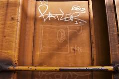 ? (1998) (TheGraffitiHunters) Tags: graffiti graff spray paint street art colorful benching benched freight train tracks moniker streak markal 1998 98 boxcar