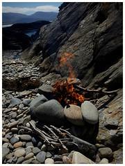 driftwood (Gi8SKN) Tags: fire driftwood stones beach donegal ireland gi8skn ei3gkb cameraphone s7 galaxy samsung coast wildatlanticway