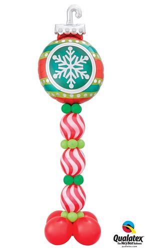 Snowflake Ornament Party Column