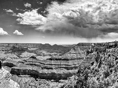 Before the Storm (PamBoling) Tags: grandcanyonnationalpark usanationalpark yavapaipoint travelphotography panorama monochrome landscape cloudy clouds blackandwhite weatherphotography fineartphotography
