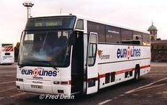 Bus Eireann VP106 (01D8052). (Fred Dean Jnr) Tags: buseireann broadstonedepotdublin broadstone buseireannbroadstonedepot october2003 volvo b10m plaxton excalibur vp106 01d8052 eurolines