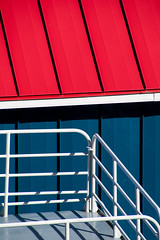 'Every Which Way' (Canadapt) Tags: abstract railing rooftop blue red shadow graphic princerupert canadapt