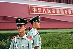 Guarding China (davidzhengarts) Tags: china guards security tiananmen communism beijing