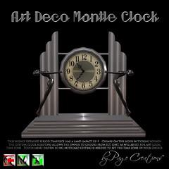 ღ ♡  Art Deco Mantle Clock - Dk Silver by Page Creations™ ♡ ღ (Raven Page) Tags: twisted mesh sockdolanger 1920s clock mantle