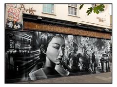 STREET ART by DAN KITCHENER (StockCarPete) Tags: dankitchener streetart londonstreetart urbanart graffiti tokyoneon shoreditchart uk london