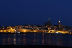 Malta, I miss you. (Jan, The Creator) Tags: malta night skyline