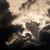 Head in the clouds (Jean-Luc Peluchon) Tags: fz1000 nuage cloud contrast contraste contrejour backlight ciel sky bw blackandwhite nb noiretblanc cumulus weather square carré lumière light dramatic