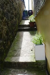 Steep Narrow Walkway in St. Ives, Cornwall, England