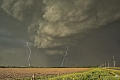 Two for One (Steven Maguire Photography) Tags: lightning lightningstrike thunderstorm nebraska skyscape supercell clouds landscape nikond610 stormchasing