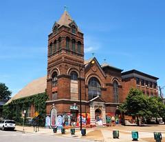 Former St. Vitus Roman Catholic Church/Guadalupano Family Center (Brule Laker) Tags: chicago illinois pilsen caf church catholicchurches chicagoarchitecturefoundation walkpilsen
