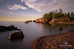 A New Poem Written (karenhunnicutt) Tags: northshore lakesuperior silverbay minnesota sunrise light lake rocks longexposure karenhunnicuttphotographycpm