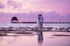 Mery & Seenu (Bravo Fotografia) Tags: wedding weddings weddingdress boda bodas novia novios bride groom amor love sunset playa isla mujeres cancun mexico beauty beautiful