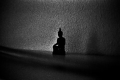 Dynamics of Space (Thomas Listl) Tags: thomaslistl blackandwhite biancoenegro noiretblanc filmphotography minoltax700 ilford hp5 ilfordhp5 dark vastness space buddha buddhism light universe center perception illusion enlightenment