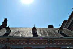 Summertime! (Els Herten) Tags: schaerbeek brussels belgium station sky sun summer