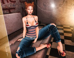 New Post ►573◄ VHW (Fadagitana Blindside (Virtual Hype Woman)) Tags: belleza sintiklia spirit mosquitosway thecrystalheartfestival kustom9 vanity fashion blog sl secondlife women woman fashionblog avatar model hair virtualworld blogger 3d photo photography clothes new outfit bento meshbody mesh meshead redheads tanktop top jeans pants shoes heels