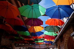 Umbrella roof (In Explore) (Steenjep) Tags: cypern cyprus zypern ferie holiday rejse travel limassol city street building old umbrella color roof