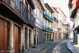 Charming street in the old district of Guimarães.