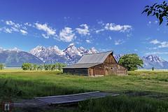 Teton National Park Wyoming (randyandy101) Tags: nationalpark teton park wyoming barn usa summer mountains alps alpine snow trees green bridge sunrise jackson hole iconic moulton mormon
