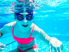 pooltime-6 (lermaniac) Tags: red pool swimingpool girl outdoors teen water countryclub underwater child blue dive