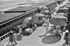 The Beach front at Miami Beach, Florida, 1939. (polkbritton) Tags: marionpostwolcott fsaowi floridahistory miamihistory vintagefashion libraryofcongresscollections 1930s