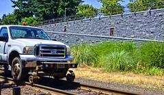 On Track (creepingvinesimages) Tags: htt ford trackmaintenncetruck trucks tracks walls railing lakeoswego oregon nikon d7000 pse14 topaz