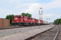 All EMD on the CPBN (wc_sd45_7500) Tags: soo line sd60 gp382 cp canadian pacific midway sub northtown yard bnsf cpbn transfer sd402 beaver logo bunge elevator
