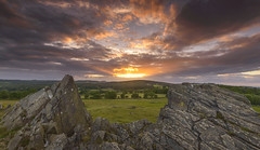 Sunset Rays (John__Hull) Tags: sunset rays bradgate park leicestershire newtown linford charnwood forest uk england landscape view nikon d3200 sigma 1020mm rocks precambrian trees wood clouds sky storm crepuscular breath taking landscapes