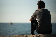 Far away 2... (Metin Colak) Tags: leica leicam mandler summilux75mm cyprus north girne kyrenia daytime daylight summer outdoor loneliness hopelessness boat sea seaside