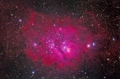 M-8 Lagoon Nebula 4 HR Image 10 Min Subs Canon 6D Hutch Modified Asro-Tech 8' F-8 R.C. Ioptron Cem-60 (R.MILLER4565) Tags: astrometrydotnet:id=nova2625400 astrometrydotnet:status=solved