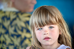 Tea Time with Laura's daughter (zebrazoma) Tags: portrait enfant child blond sweet thalassa dinard britany bretagne thalasso bar albatros english labelleetleblues teatime concert dancing blue eyes bleu yeux nikon d810 70200