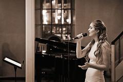 Singing a song (LalliSig) Tags: iceland wedding photographer reykjavík people portrait portraiture brúðkaup ljósmyndari brúðkaupsljósmyndari lallisig fríkirkjan í sepia brown black white gray