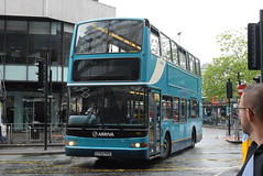 ANW 4165 @ Piccadilly Gardens, Manchester (ianjpoole) Tags: arriva north west daf db250 plaxton president lf02pkd 4165 working sapphire route 263 piccadilly gardens manchester altrincham bus interchange this is former london dlp88