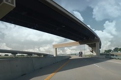 Curve {183/365} (therealjoeo) Tags: road highway overpass texas austin sky clouds truck 365 365project