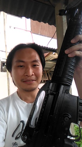 guns & viuw ( real guns for man...not whit roses this is a real guns not a toys ) plus coffee... my another morning in juli 2018...be blessed ( dont try it whit out military guide and in indonesia guns is not allow for public ) hope & pray i will never us