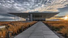 Perspective (nikhrist) Tags: perspective stavrosniarchosfoundationculturalcenter sunset cloudyday clouds sky athens attiki greece nickchristodoulou