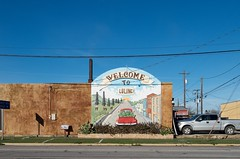 Welcome to Luling (dangr.dave) Tags: luling tx texas downtown historic architecture welcome mural watermellon caldwell county caldwellcounty