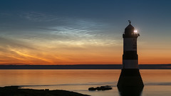 'Night-Light' - Penmon Point, Anglesey (Kristofer Williams) Tags: nlc noctilucentcloud lighthouse summer night sky stars nightscape seascape landscape clouds horizon anglesey wales penmon