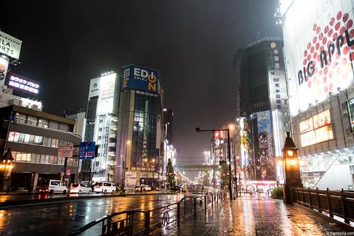 Night rainy Akihabara.