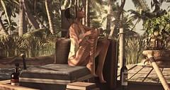 ♥ Sun Lover (Quistis Shippe) Tags: bodysuit chanty2in1rufflebodysuit explore fashion goodvibes hair hangout legchain lostlagoon maitreya mara mesh narcisse nomatch nosun posedposes relax secondlife sim singlepose summer sun sunlover tropical