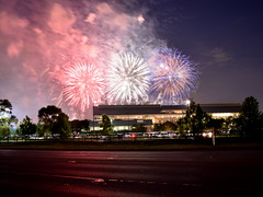 Red white and blue (Robby Gragg) Tags: july 4th fireworks arlington heights park racetrack