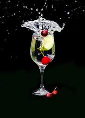 cherry splash (Yvonne Alderson) Tags: cherry water splash glass summer fruit
