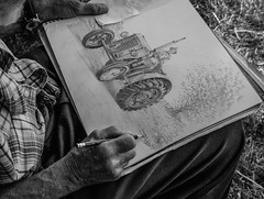 Artists Impression (Ian Emerson) Tags: artist artistic drawing pencil blackwhite talented tractor canon